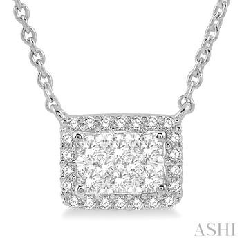 OCTAGON SHAPE LOVEBRIGHT DIAMOND NECKLACE