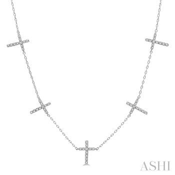 DIAMOND CROSS STATION NECKLACE