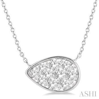 PEAR SHAPE LOVEBRIGHT DIAMOND NECKLACE