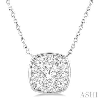 CUSHION SHAPE LOVEBRIGHT DIAMOND NECKLACE