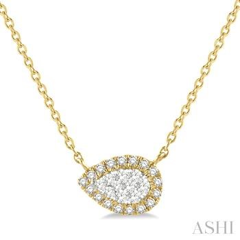 PEAR SHAPE LOVEBRIGHT DIAMOND NECKLACE