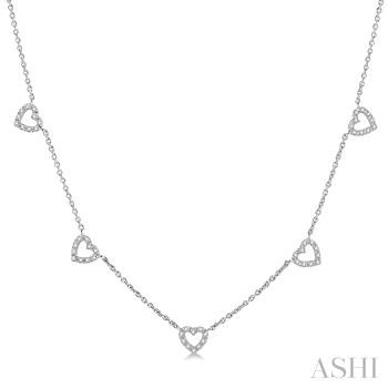 HEART DIAMOND STATION NECKLACE