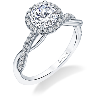 Modern Halo Engagement Ring